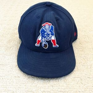 Navy blue retro logo New England Patriots hat